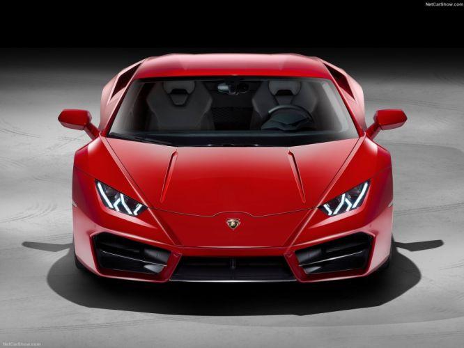 Lamborghini Huracan LP580-2 cars supercars red 2016 wallpaper