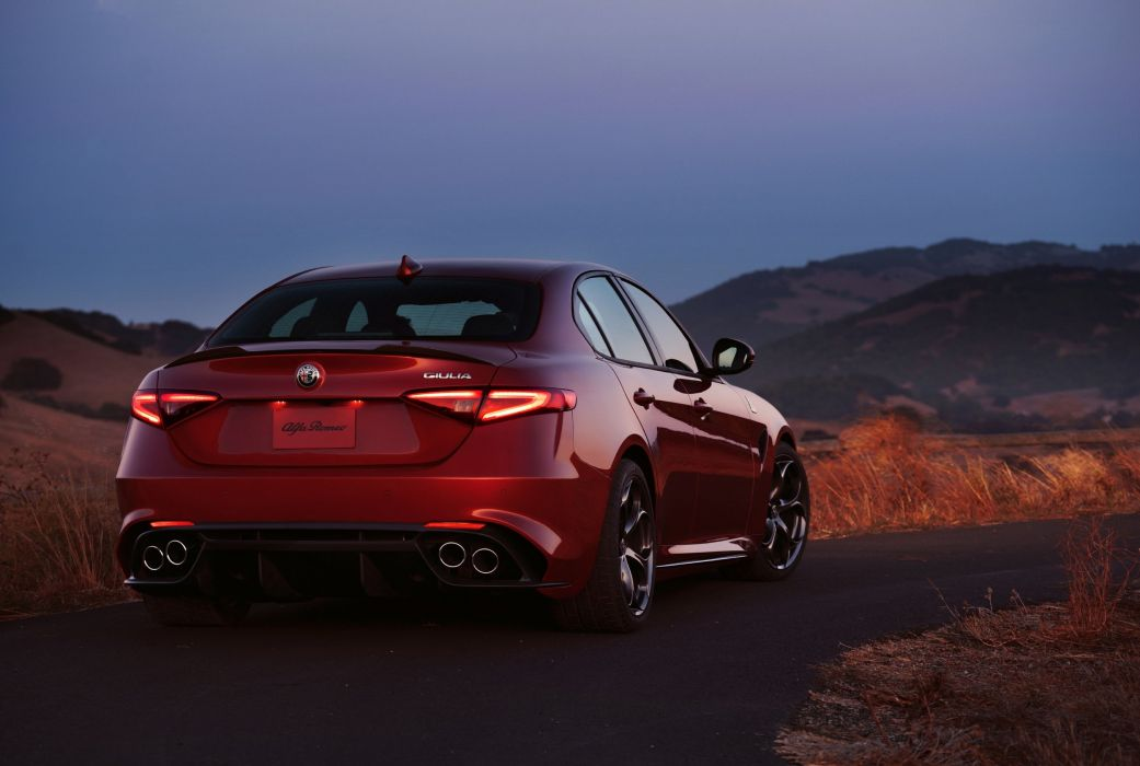 US-spec Alfa Romeo Giulia 2016 cars red sedan wallpaper