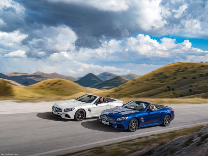 2016 amg cars convertible Mercedes roadster SL-63 white wallpaper