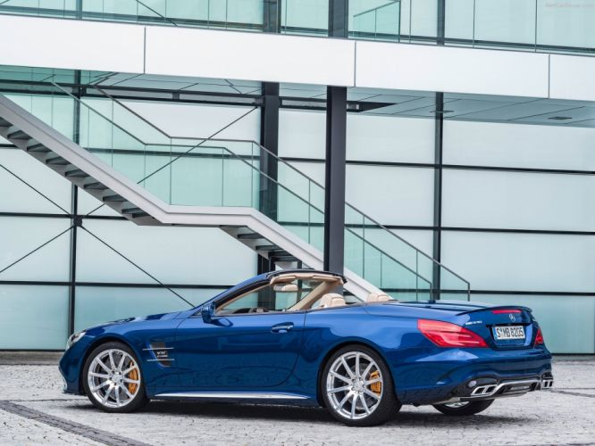 2016 amg cars convertible Mercedes roadster SL-65 blue wallpaper