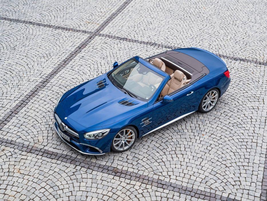 2016 amg cars convertible Mercedes roadster SL-65 blue wallpaper