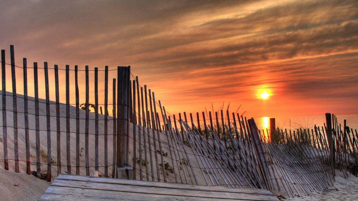 amanecer playa vallado sol naturaleza wallpaper