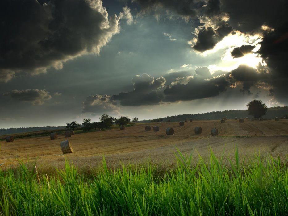 STORM weather rain sky clouds nature landscape sun wallpaper