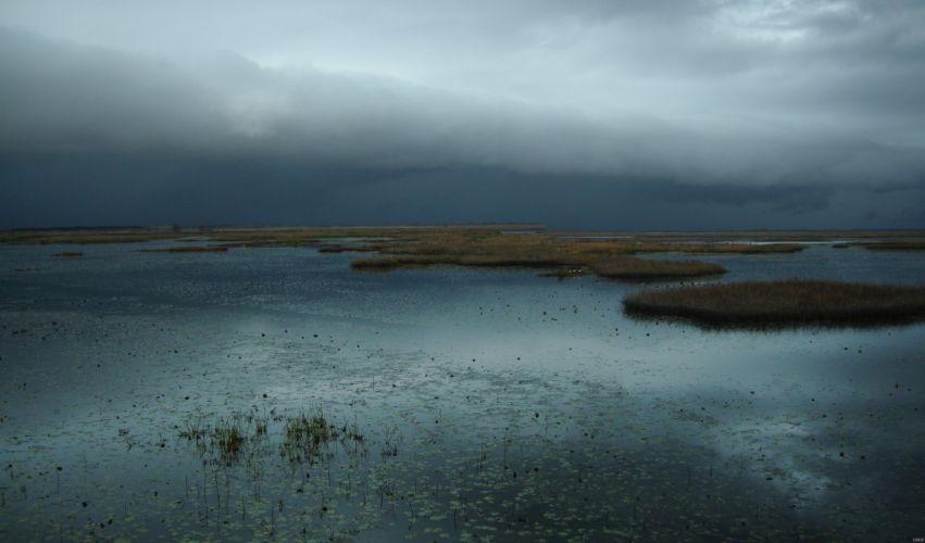 STORM weather rain sky clouds nature birds duck landscape lake river wallpaper