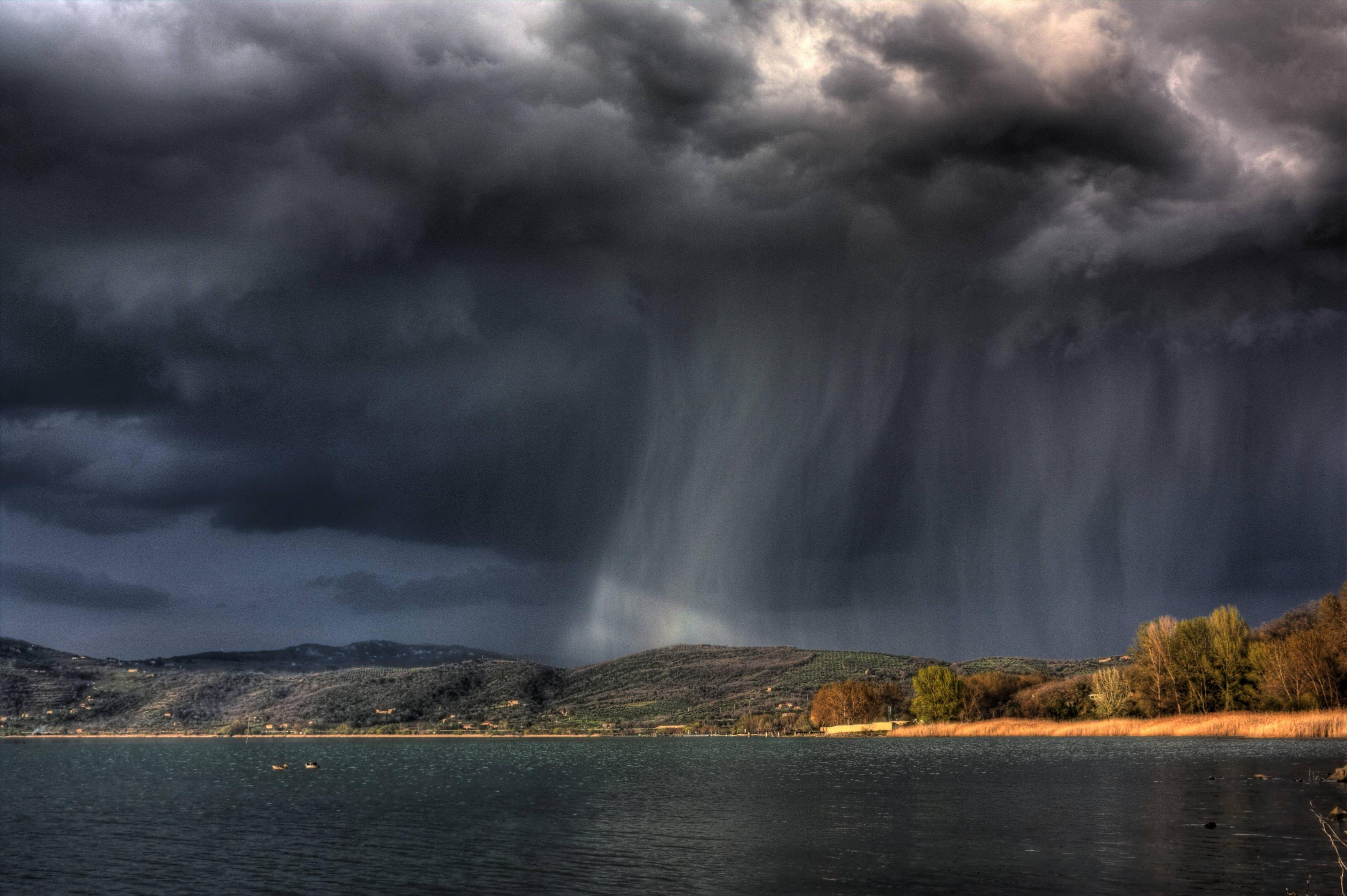 storm weather rain sky clouds nature sea ocean landscape