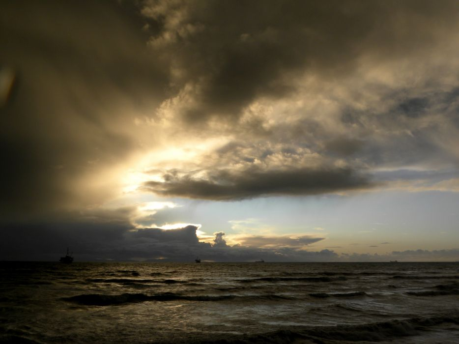 STORM weather rain sky clouds nature sea ocean landscape sunset sunrise wallpaper
