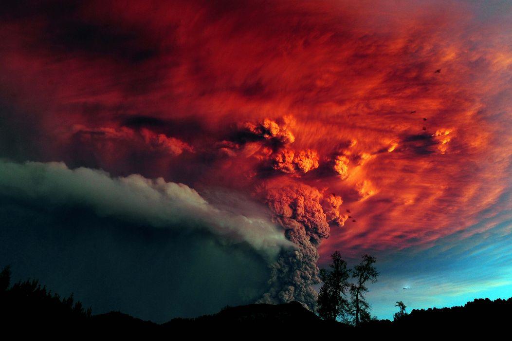 STORM weather rain sky clouds nature volcano geyser color sci-fi wallpaper
