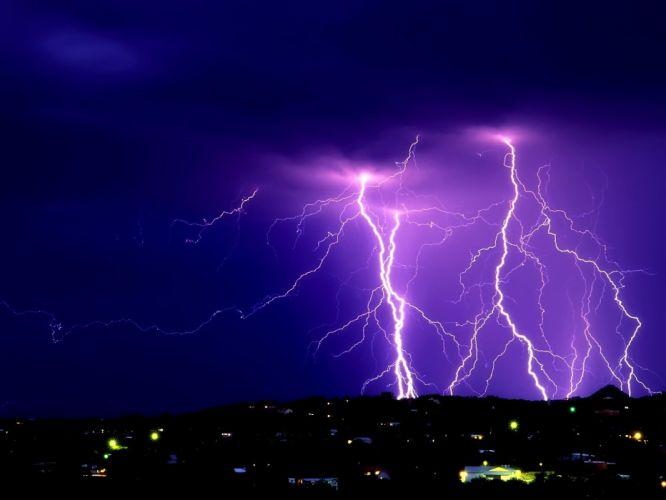 STORM weather rain sky clouds nature lightning city cities landscape night wallpaper