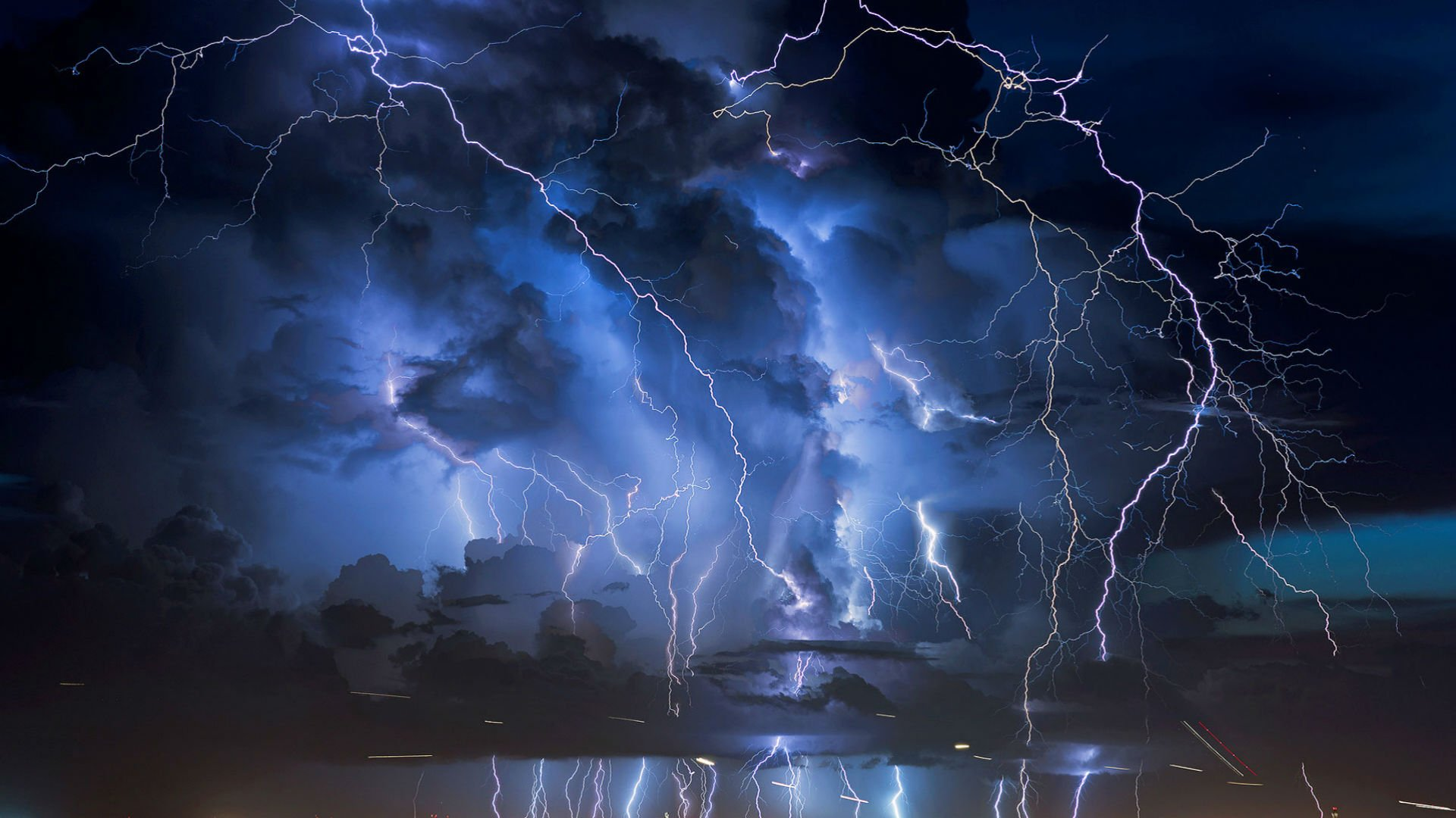 STORM weather rain sky clouds nature lightning city cities ...
