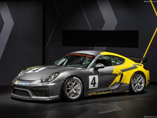 Porsche Cayman GT4 Clubsport cars 2016 wallpaper