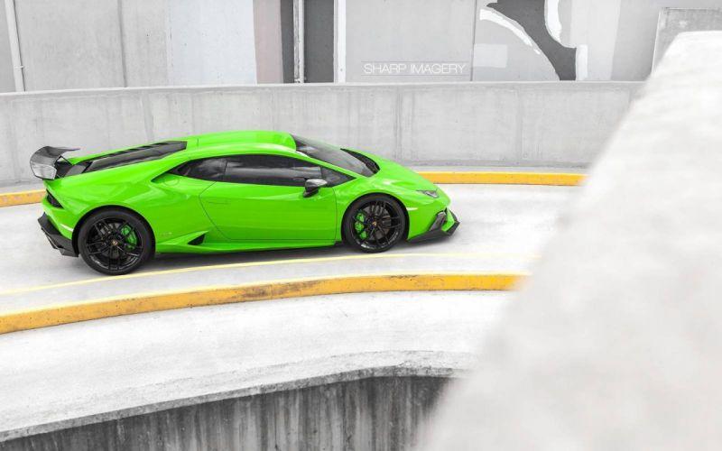 2016 Lamborghini Huracan Akrapovic Exhaust green cars wallpaper