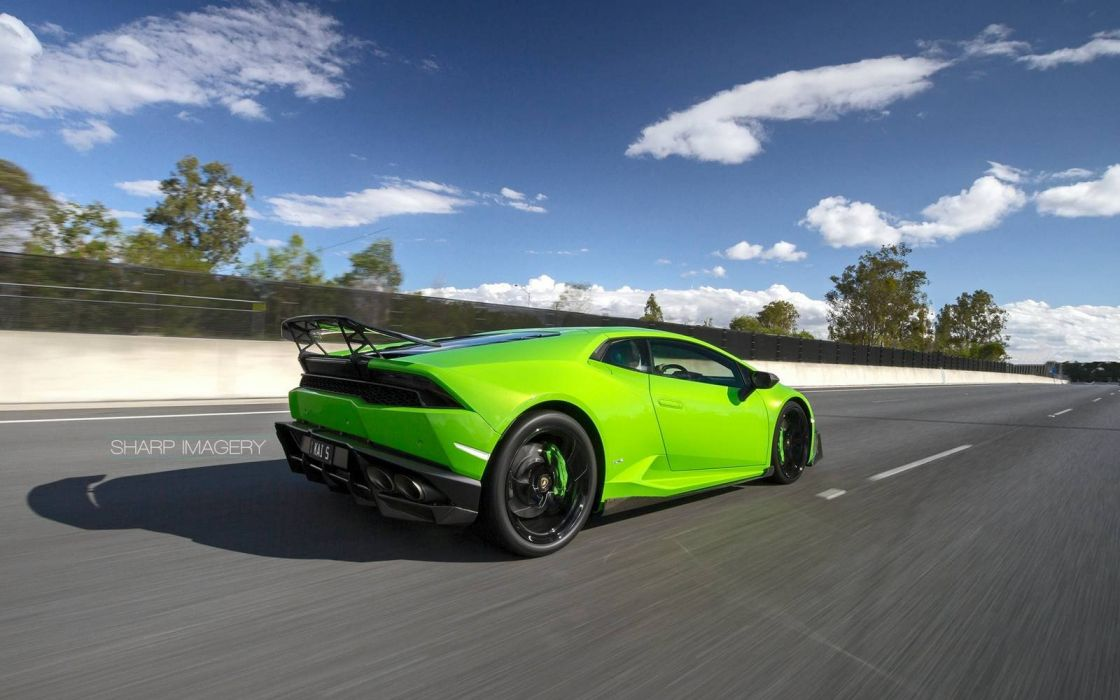 2016 Lamborghini Huracan Akrapovic Exhaust green cars wallpaper