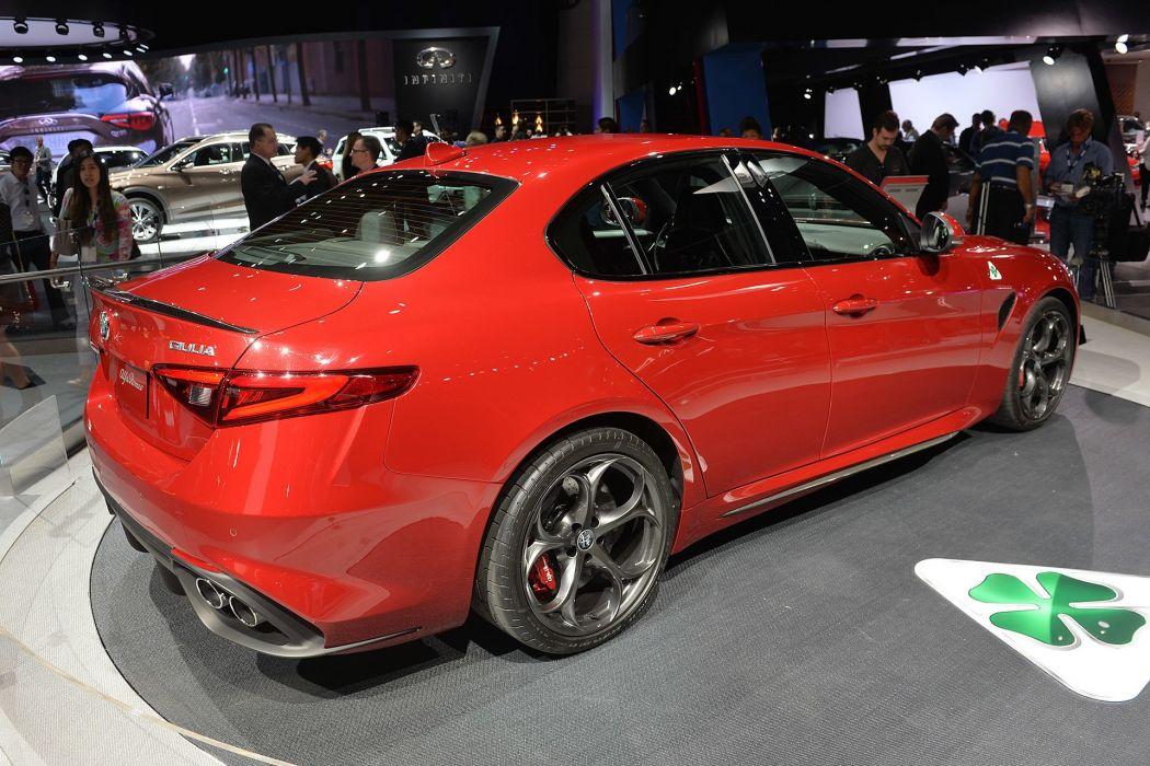 2016 alfa cars giulia red romeo sedan US-spec wallpaper