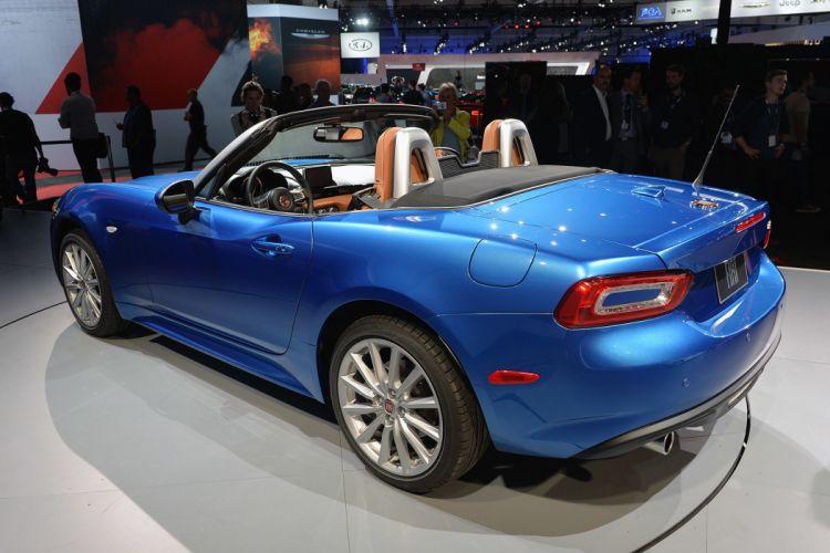 124 2016 cars Fiat blue spider wallpaper
