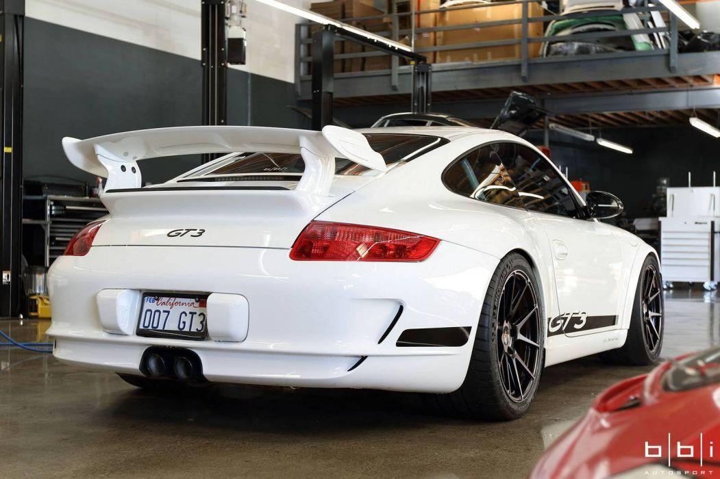 2016 Porsche 911 GT3 BBI Autosport Coupe cars modified white wallpaper