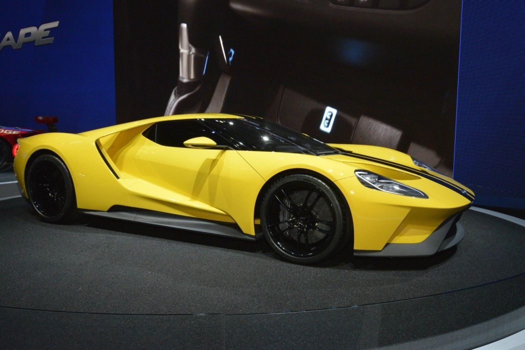 2016 Ford Gt Concept Cars Coupe Yellow Livery Wallpaper