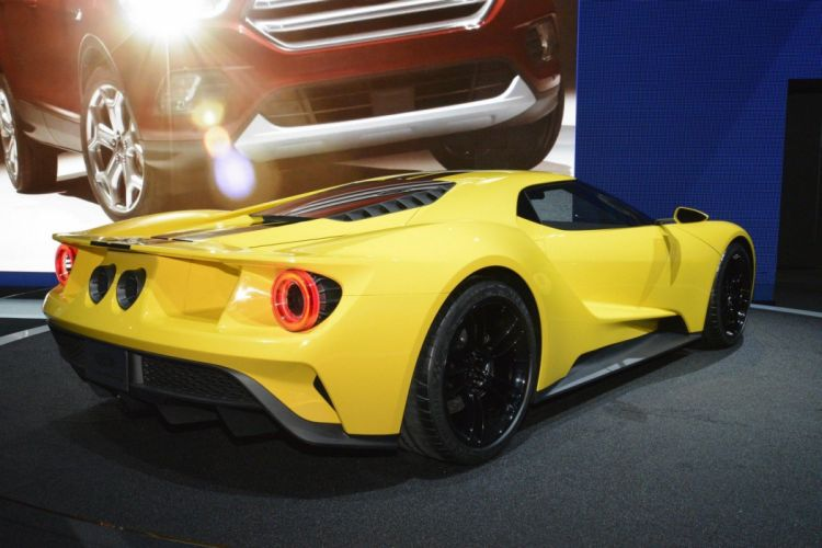 2016 Ford-GT concept cars coupe yellow livery wallpaper