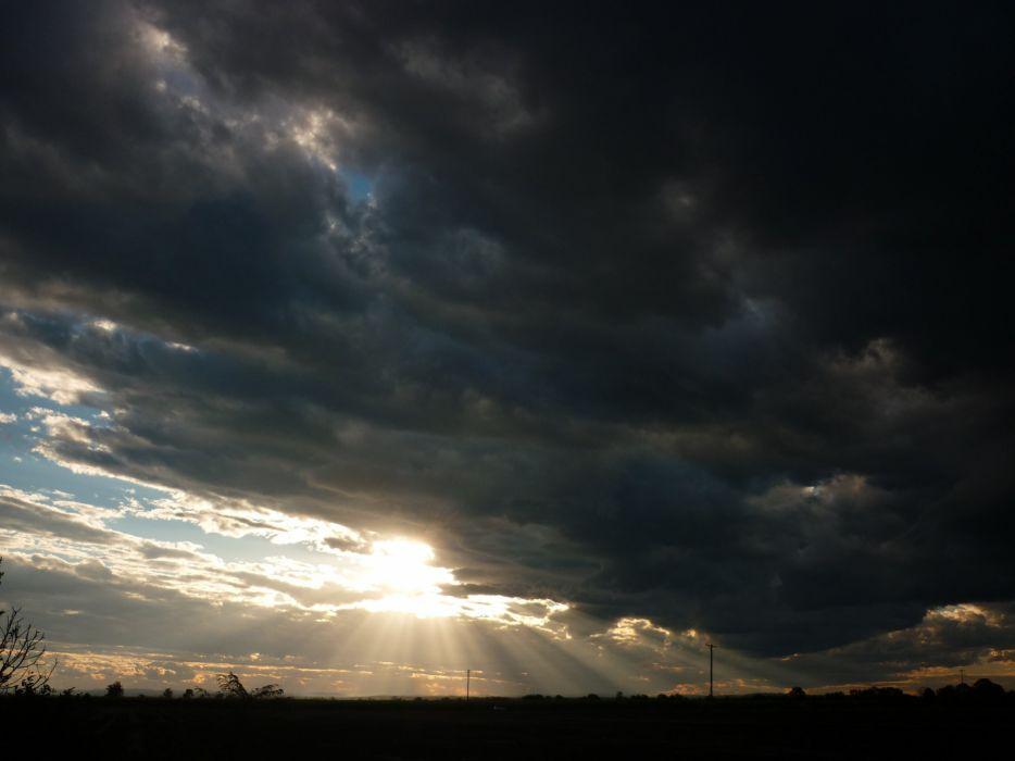 STORM weather rain sky clouds nature sunset sunrise landscape wallpaper