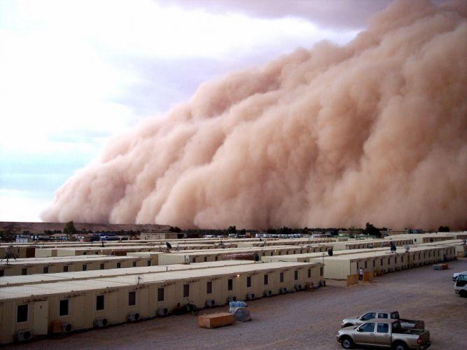 STORM weather rain sky clouds nature desert sand wallpaper
