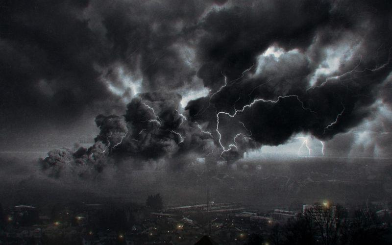 STORM weather rain sky clouds nature lightning landscape city cities wallpaper