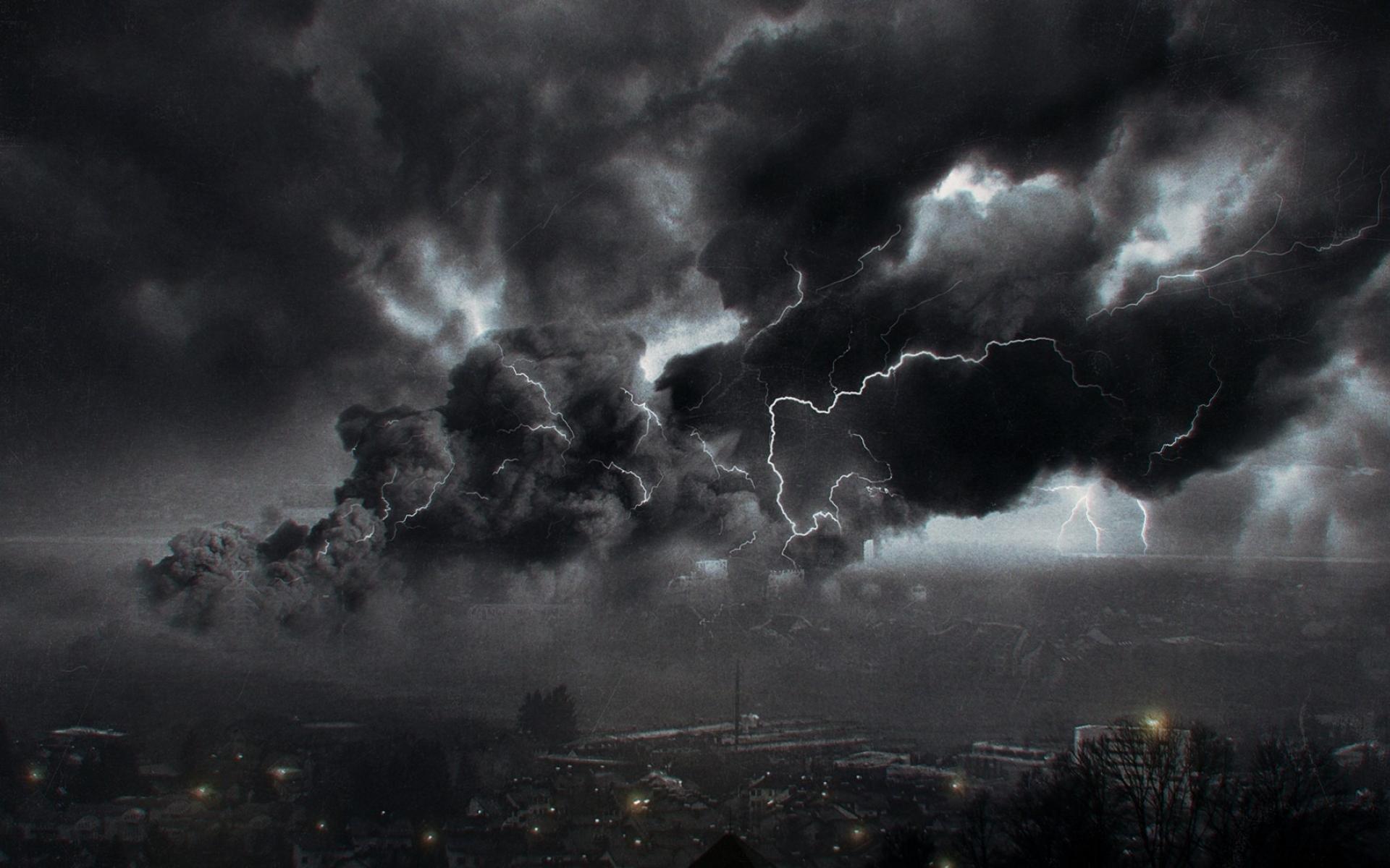 Image Gallery lightning dark storm sky