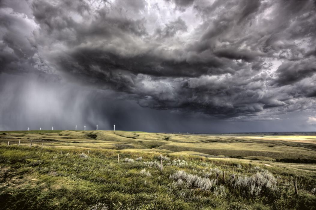 STORM weather rain sky clouds nature landscape wallpaper