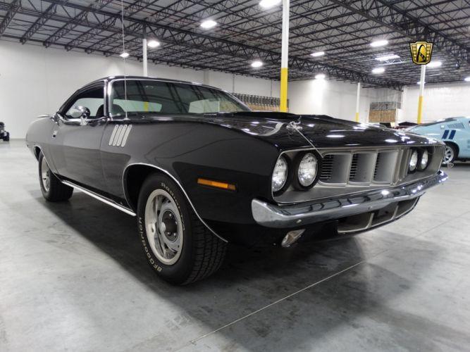 1971 Plymouth Barracuda cuda coupe cars black wallpaper