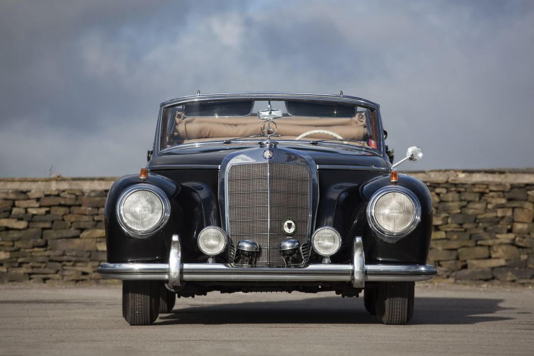 1954 Mercedes Benz 300S Cabriolet A W188 300 luxury retro wallpaper