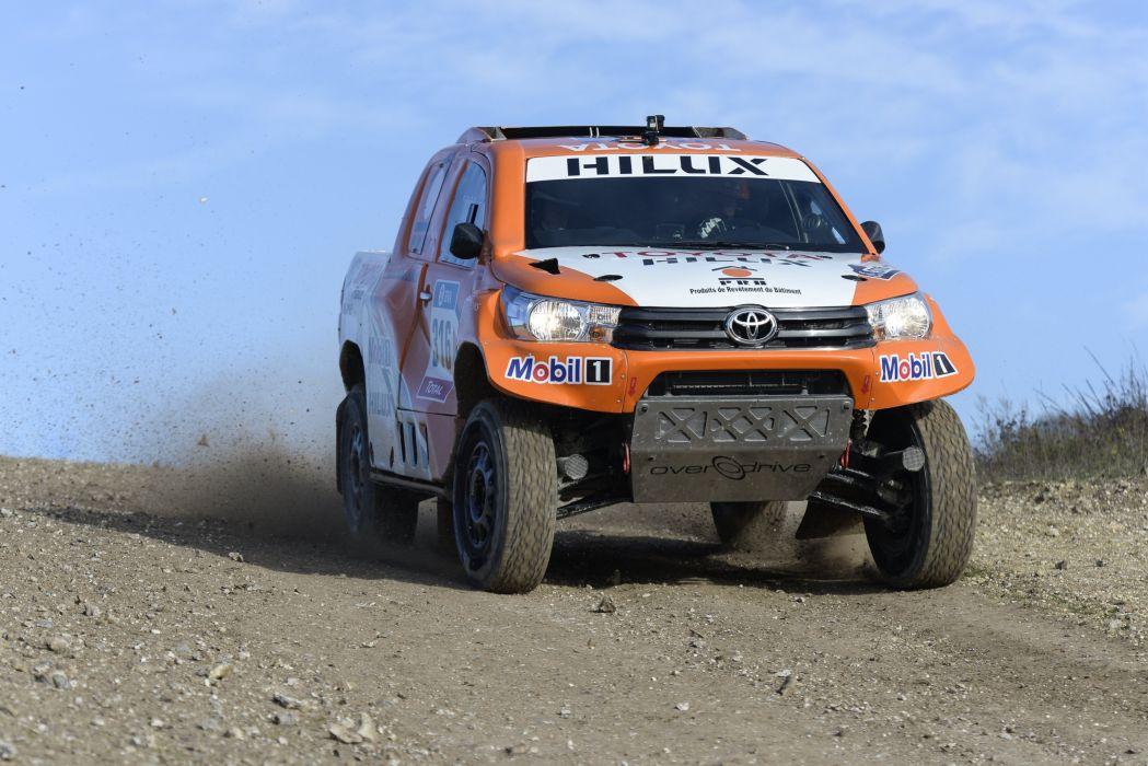 2016 Toyota Hilux Rally Dakar race racing rally pickup offroad 4x4 awd wallpaper