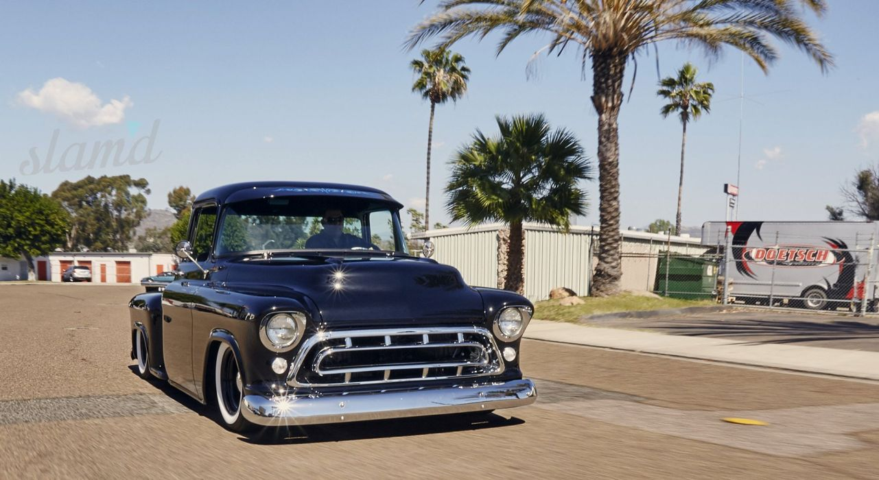 1957 CHEVY 3100 PICKUP tuning custom hot rod rods pickup truck wallpaper