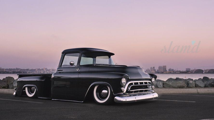 1957 CHEVY 3100 PICKUP tuning custom hot rod rods pickup truck wallpaper