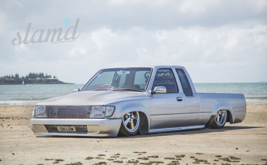1997 TOYOTA HILUX tuning custom hot rod rods lowrider pickup truck wallpaper