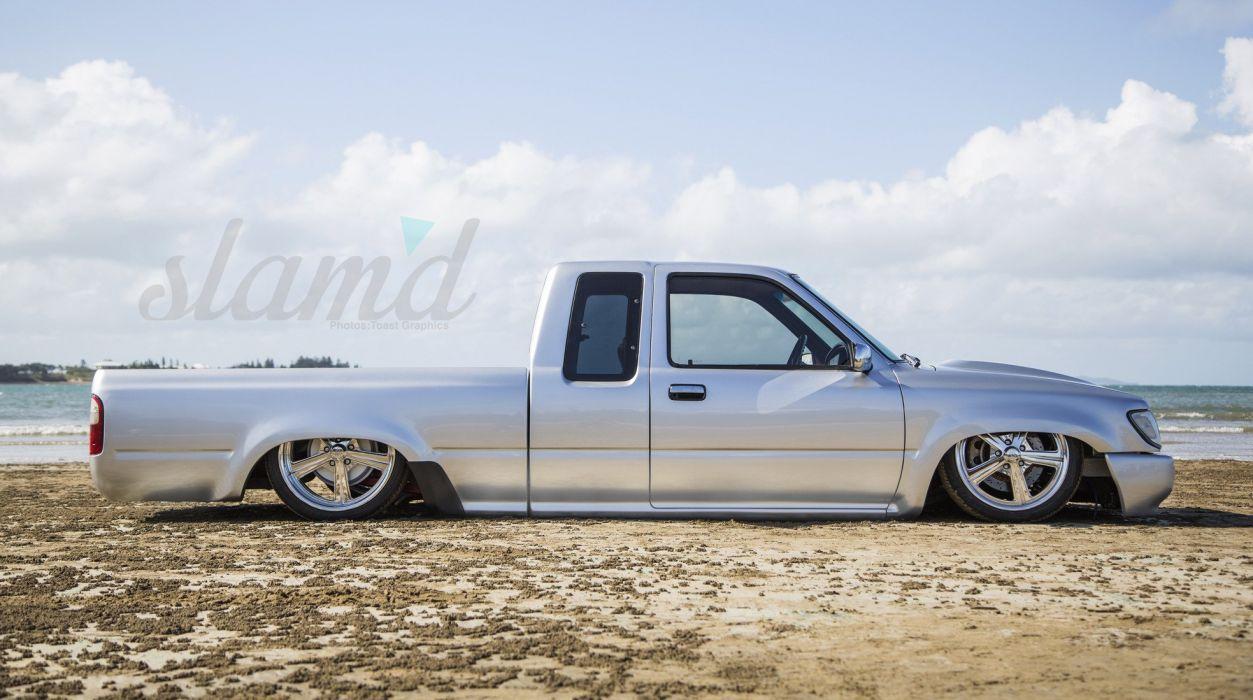 1997 TOYOTA HILUX tuning custom hot rod rods lowrider pickup truck wallpaper