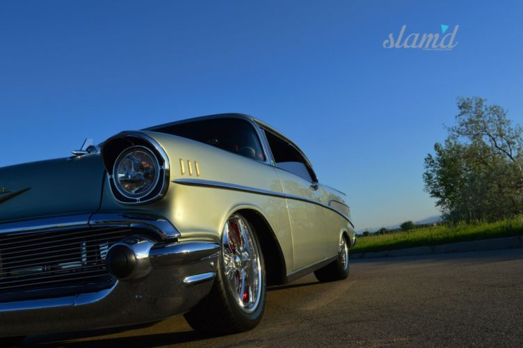 1957 CHEVROLET BEL AIR HARDTOP tuning custom hot rod rods lowrider wallpaper