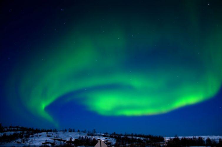 aurora boreal artico naturaleza wallpaper