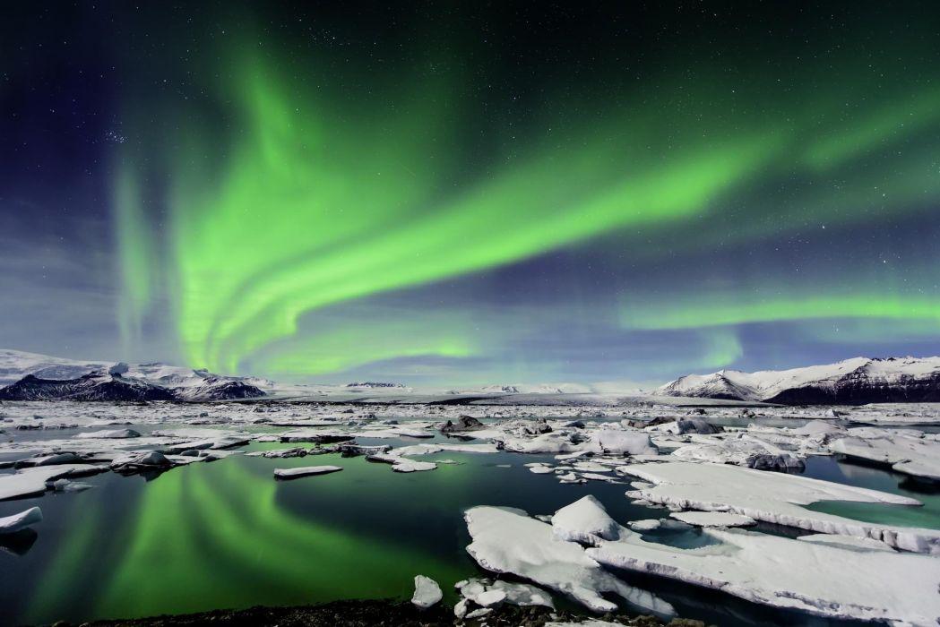 aurora boreal hielo artico naturalkeza wallpaper