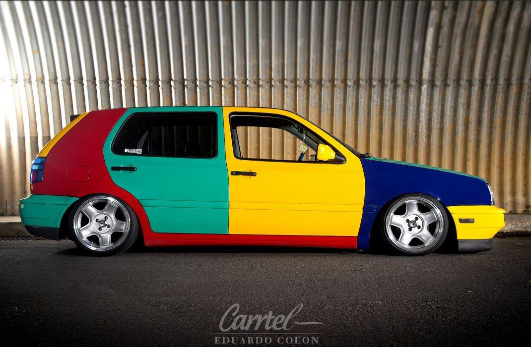 Volkswagon MKIII Harlequin tuning custom wallpaper