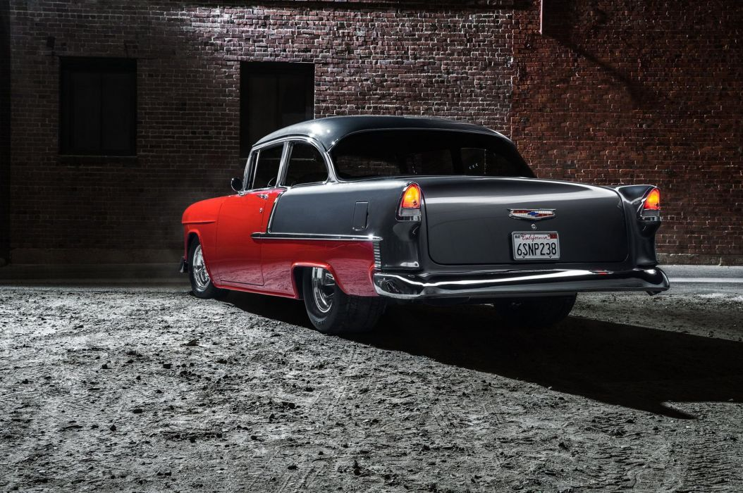 1955 Chevrolet 210 Coupe hot rod rods custom retro wallpaper