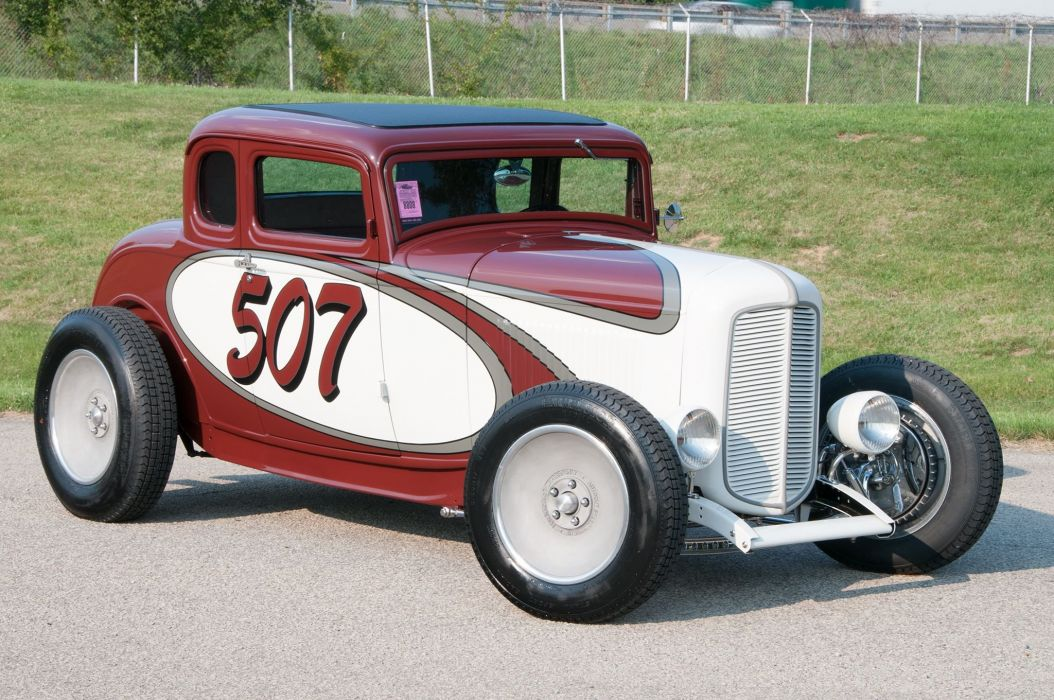 1932 Ford Deuce Coupe hot rod rods vintage race racing wallpaper