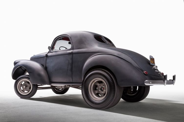 1939 Willys Coupe Gasser drag race racing hot rod rods custom vintage retro wallpaper