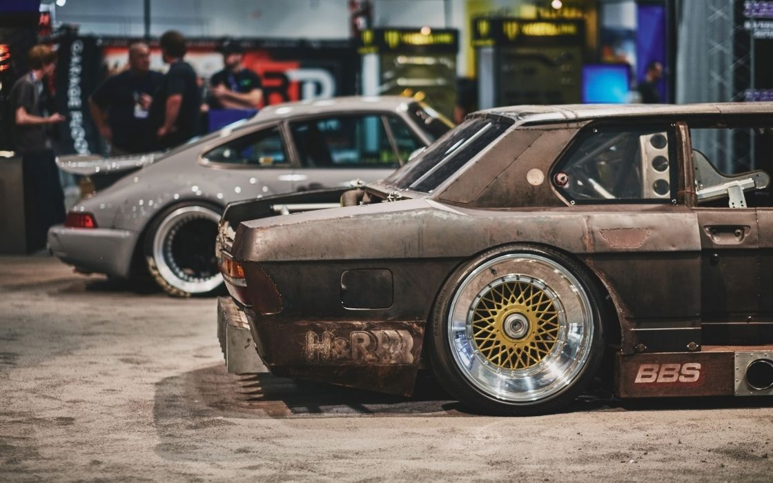 1985 HR-Springs BMW 535i Rusty Slammington tuning custom drift race racing wallpaper