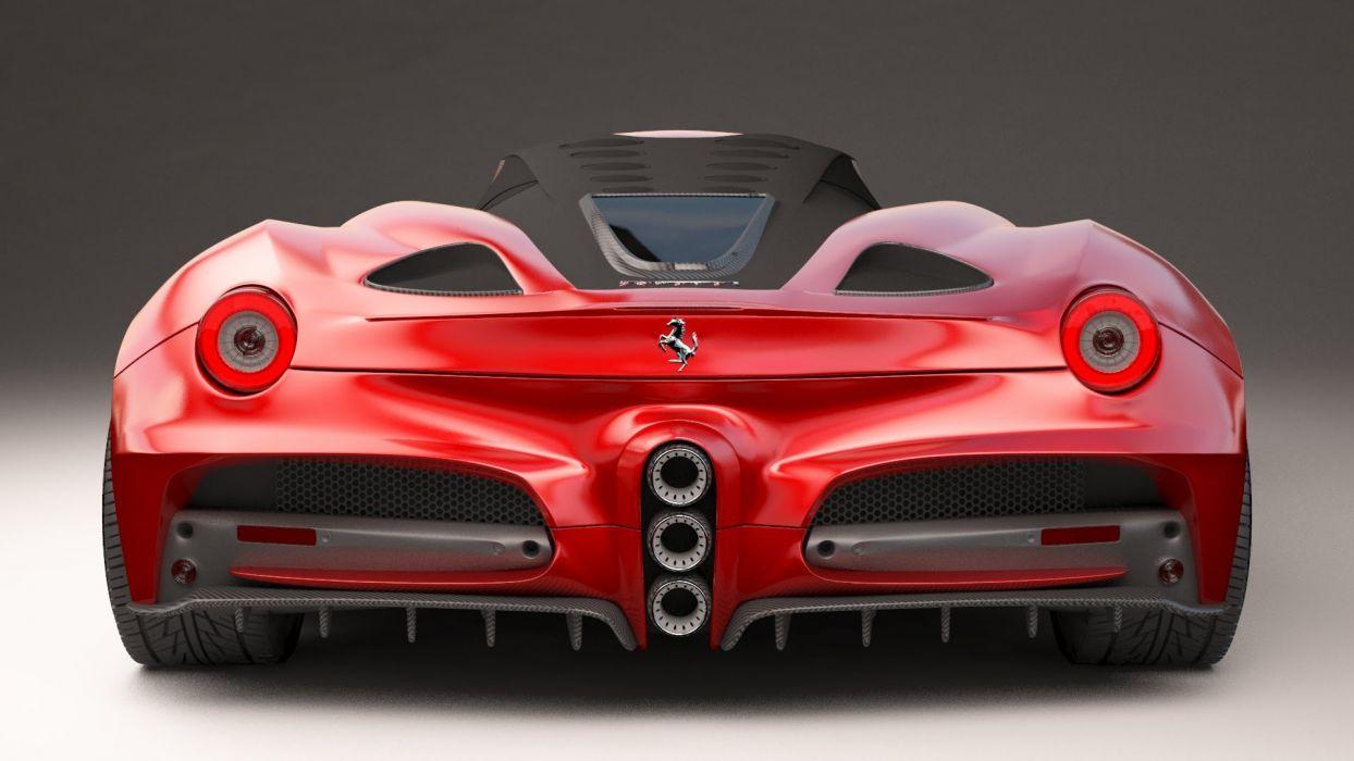 Ferrari Forte supercar concept wallpaper