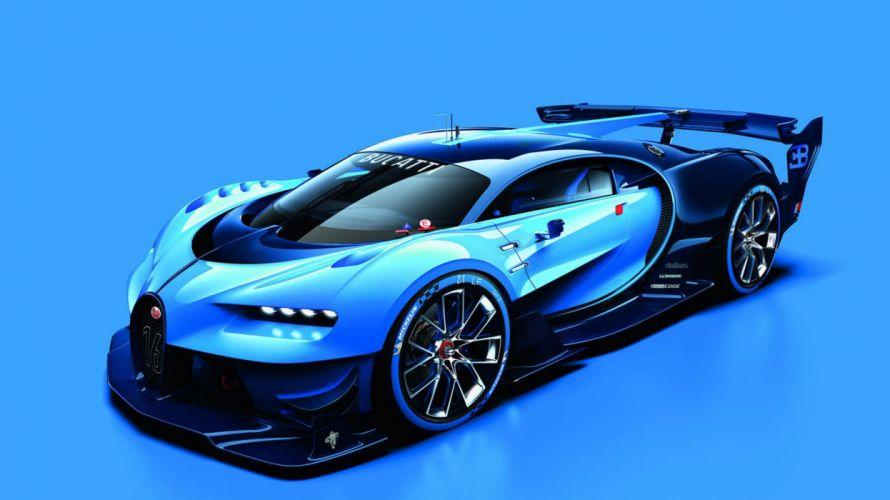 2015 Bugatti Vision Gran Turismo supercar concept lemans le-mans race racing vgt wallpaper