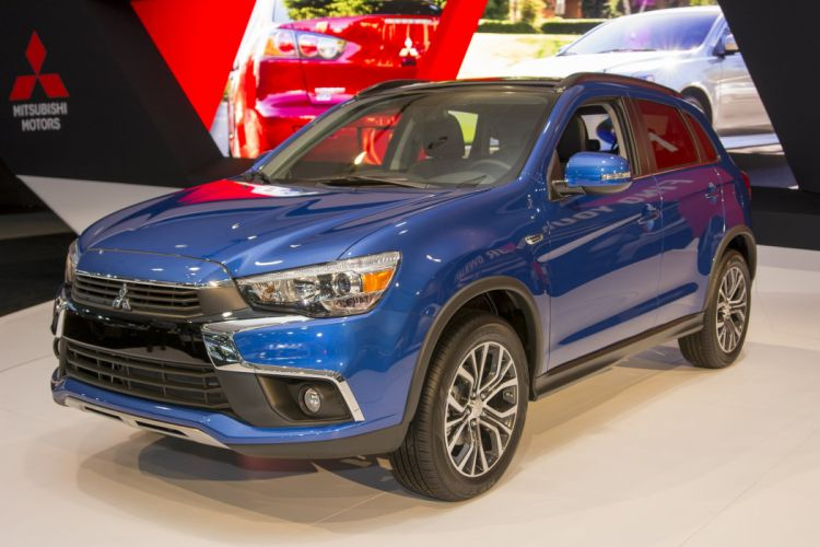 2015 cars mitsubishi outlander Sport suv blue wallpaper