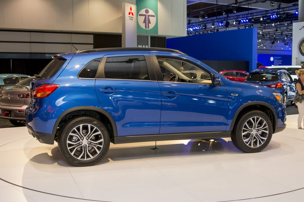 2015 cars mitsubishi outlander Sport suv blue wallpaper