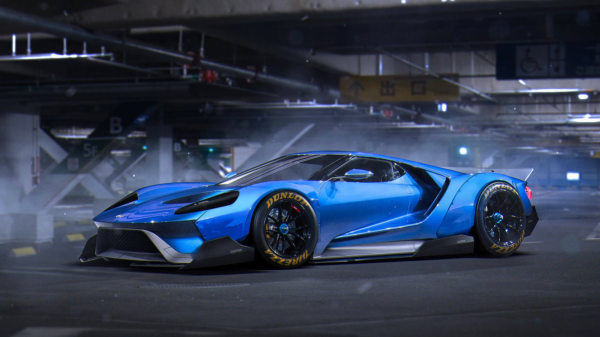 ford gt blue wallpaper - photo #22