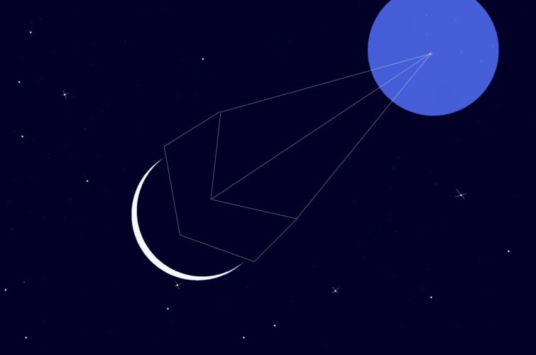 Moons Stars Abstract Space Geometry wallpaper