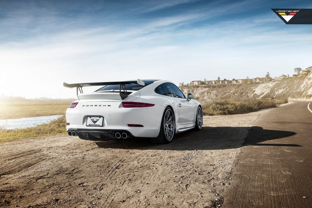 Vorsteiner V-GT Porsche 991 Carrera-S cars coupe white modified wallpaper