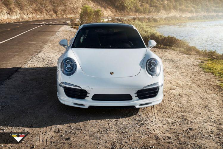 Vorsteiner V-GT Porsche 991 Carrera-S cars coupe white modified wallpaper