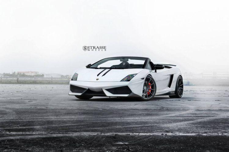 Lamborghini Gallardo Spyder Performante Withe Strasse Wheels cars modified wallpaper